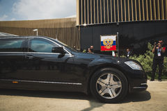 Russian presidential car at Expo 2015 in Milan, Italy Stock Images