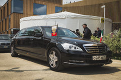 Russian presidential car at Expo 2015 in Milan, Italy Stock Photography