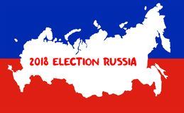 Russian Presidential Election 2018. Election Concept royalty free illustration