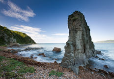 Russian, Primorye, beautiful sea rock Stock Photos