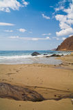 Russian, Primorye, beautiful sunny beach Royalty Free Stock Photography