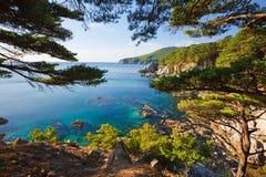 Russian primorye seashore stock photography