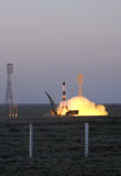 Russian Progress Spacecraft Launch Royalty Free Stock Image