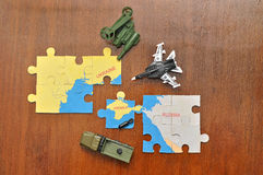 Russian puzzles with annexation of the Crimea Royalty Free Stock Images