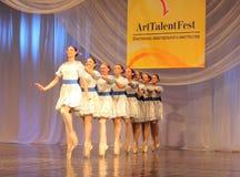 Russian quadrille dance number Stock Photos