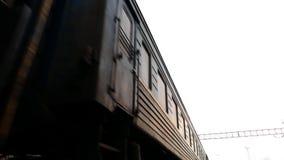 Russian railway train arrival. 4K stock video