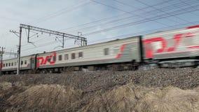 Russian Railways passenger train stock footage