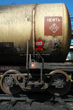 Russian railways. The tank with crude oil Royalty Free Stock Images