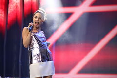 Russian rap singer Kristina Si performs during the 25th Slavyansky Bazar Festival Stock Photo