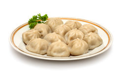 Russian ravioli (pelmeni) Royalty Free Stock Images