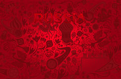 Russian red background, vector illustration Stock Photos