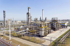 Russian refinery complex at summer daylight Royalty Free Stock Images