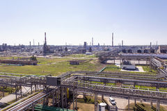 Russian refinery complex at summer daylight Royalty Free Stock Image