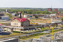 Russian refinery complex at summer daylight Stock Images