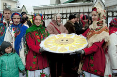 Russian religious holiday Maslenitsa Stock Photography