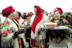 Russian religious holiday Maslenitsa Stock Photos