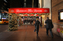 Russian restaurant in New York, USA Royalty Free Stock Images