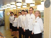 Russian Restaurant staff Stock Photos