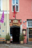 Russian restaurant Troika. TALLINN, ESTONIA - FEB 5, 2013 - Russian restaurant Troika in Tallinn, Estonia Royalty Free Stock Photography