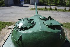 Russian retro tanks from second world war Stock Photos