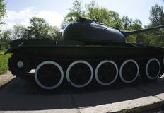 Russian retro tanks from second world war Royalty Free Stock Photos