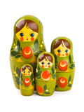 Russian retro toy matrioska. Isolated on white background Stock Images