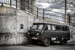 Russian Retro UAZ Natural Drive Vehicle Stock Photos