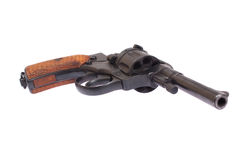 Russian revolver Nagant Stock Photo