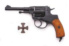 Russian revolver (Nagant M1895 revolver) Stock Image