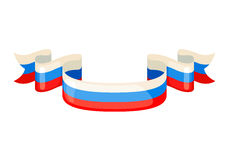 Russian ribbons in flag colors. Royalty Free Stock Photo