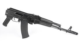 Russian rifle Kalashnikov ak74m Royalty Free Stock Photography
