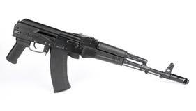 Russian rifle Kalashnikov ak74m. Isolated on white Royalty Free Stock Photography