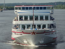 Russian River Cruise. Ship on River Cruise on Russian rivers Stock Image