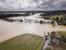 Russian River Flooding. Westside Road, Healdsburg, CA