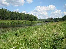 Russian river. River in the forests of the European part of Russia Royalty Free Stock Photography