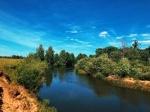 Russian river royalty free stock image
