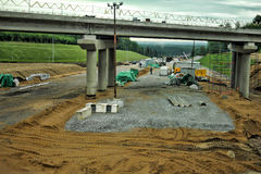 Russian road construction. Construction of a new highway, Russia Stock Photography
