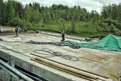 Russian road construction Stock Photos