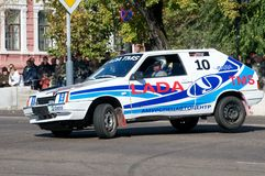 Russian Road Race in Blago Stock Photography