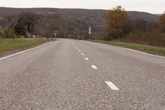 Russian road in village Royalty Free Stock Images