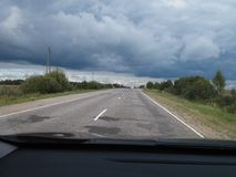 Russian road. The world as it is near you Stock Photos