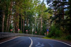 Russian roads royalty free stock image