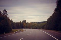 Russian roads stock photo