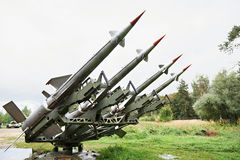 Russian rockets C-125 Pechora. Of a surface-to-air missile system Royalty Free Stock Photos