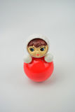 Russian roly-poly toy. Isolated red toy on white background Royalty Free Stock Image