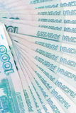 Russian rouble banknotes. Background of russian rouble banknotes Stock Photography