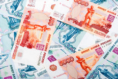 Russian Rouble Banknotes Stock Photo