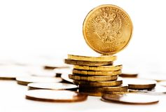 The Russian rouble coin Stock Images