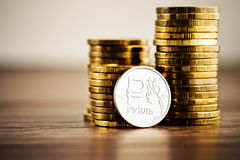 The Russian rouble Royalty Free Stock Image
