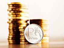 The Russian rouble Royalty Free Stock Images